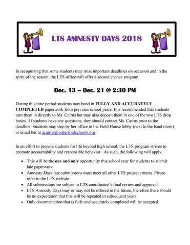 LTS Amnesty Days 2018 by Waterford Public Schools - issuu