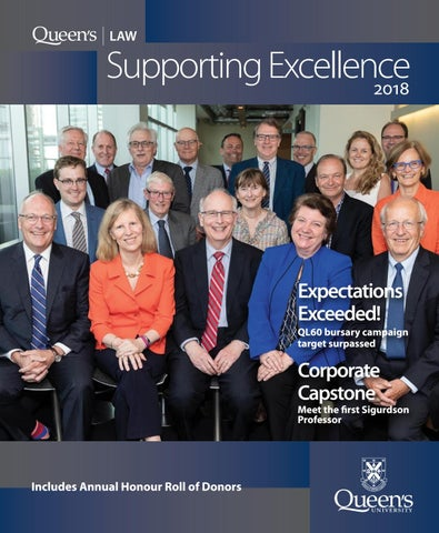Queen's Law - Supporting Excellence 2018 by Queen's
