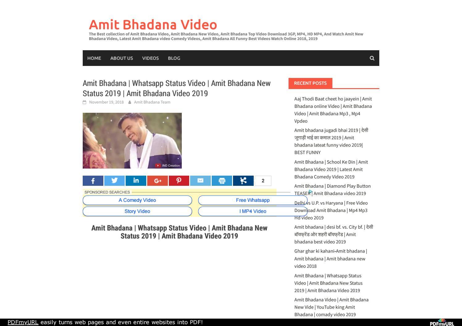 Amit Bhadana | Whatsapp Status Video | Amit Bhadana New Status 2019