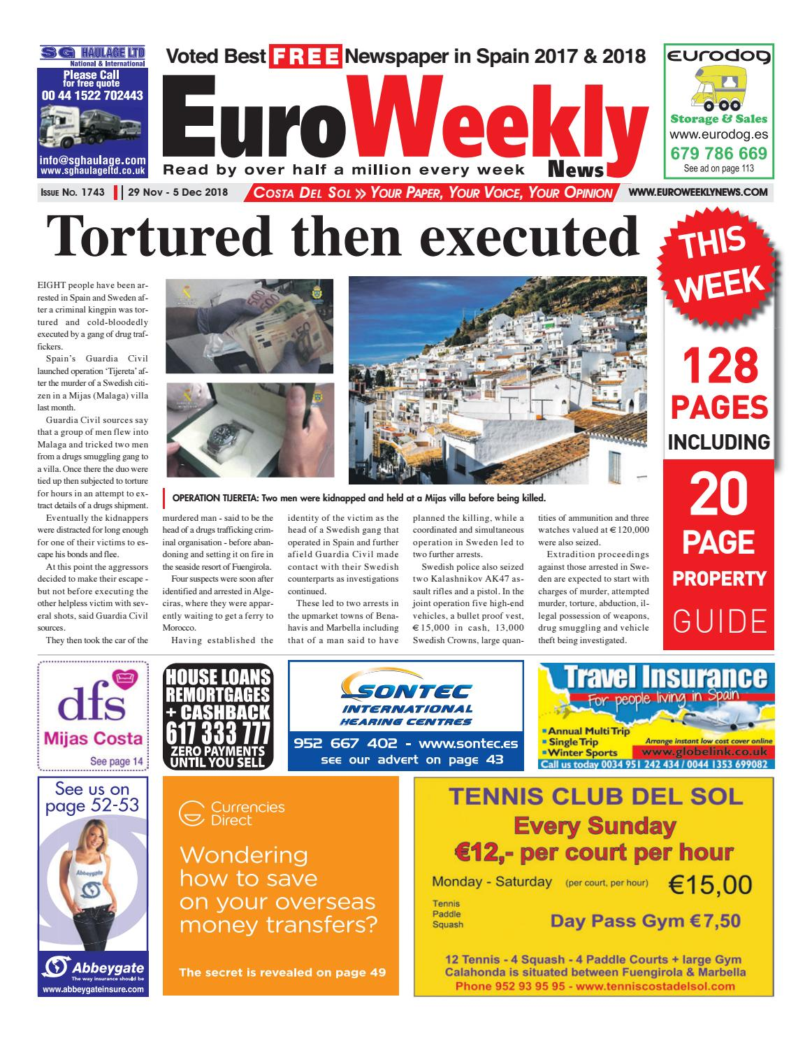 056089b2a6d5 Euro Weekly News - Costa del Sol November - 29 - 5 December 2018 Issue 1743  by Euro Weekly News Media S.A. - issuu