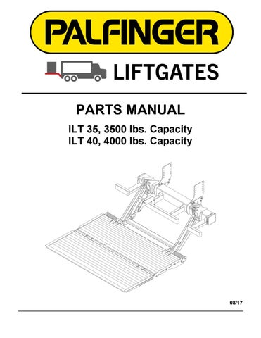 palfinger ilt-wr series liftgate parts manual