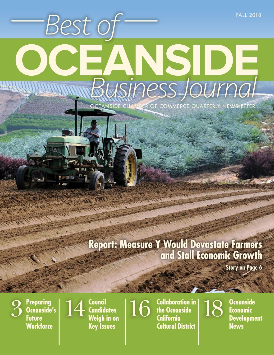 Best of OCEANSIDE Business Journal - FALL 2018 by Oceanside