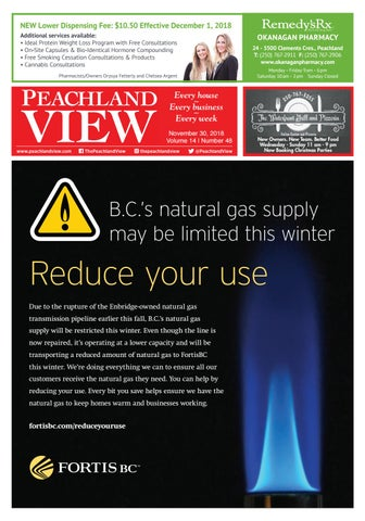 Peachland View, November 30, 2018 by Mike Rieger - issuu