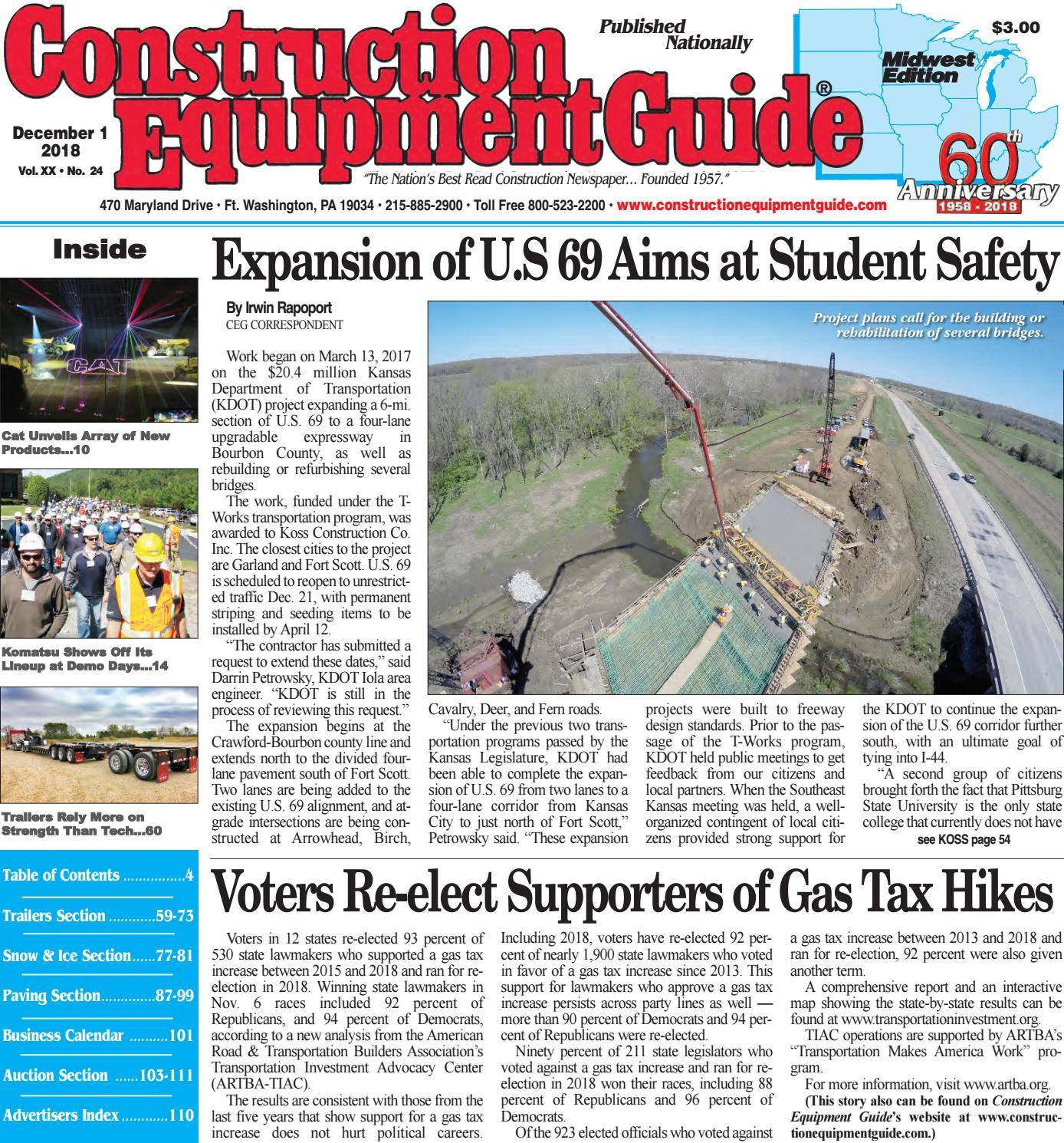 4fa2b75dd08 Midwest 24 December 1, 2018 by Construction Equipment Guide - issuu