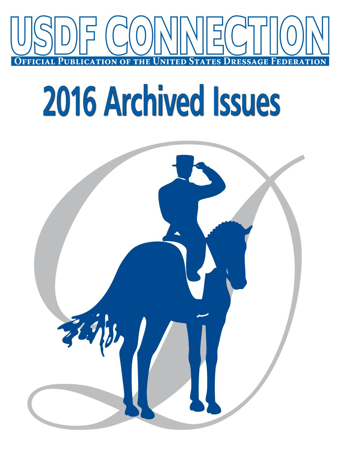 2016 Archive USDF Connection by USDF Publications - issuu