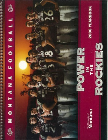 2006 Football Media Guide By University Of Montana Athletics