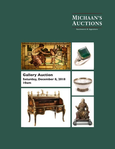 December Gallery Auction Catalog By Michaan S Auctions Issuu
