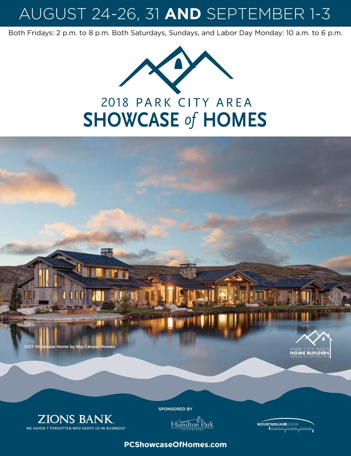 2018 Park City Area Showcase Of Homes