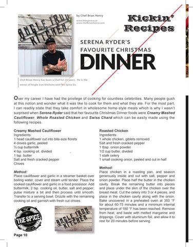 Page 10 of Serena Ryder's Favourite Christmas Dinner