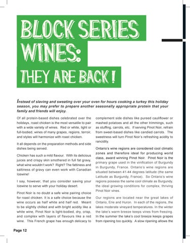 Page 12 of Block Series Wines - They are Back!