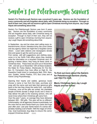 Page 21 of Santa's for Peterborough Seniors