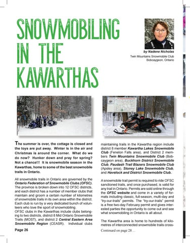 Page 26 of Snowmobiling in the Kawarthas by Nadene Nicholas