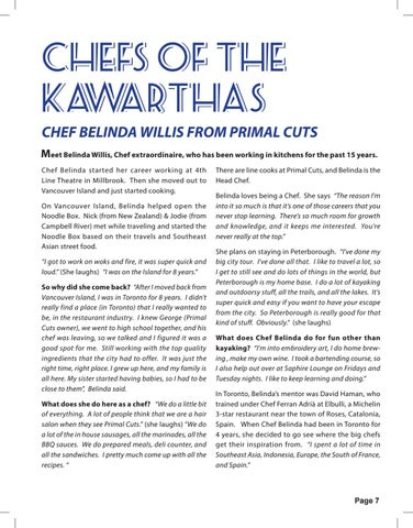 Page 7 of Chefs of the Kawarthas - Belinda Willis