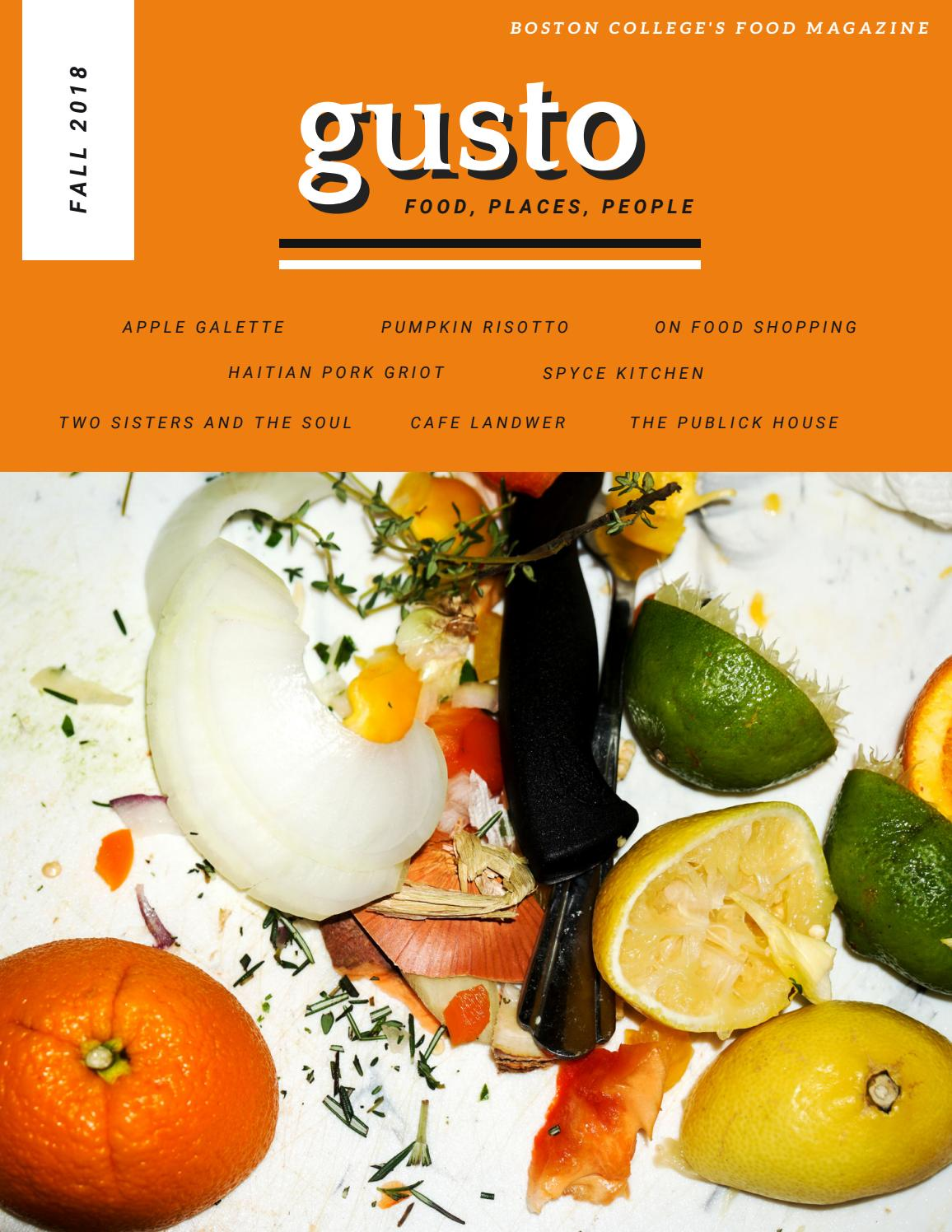 Gusto Fall 2018 by Gusto Journal - issuu