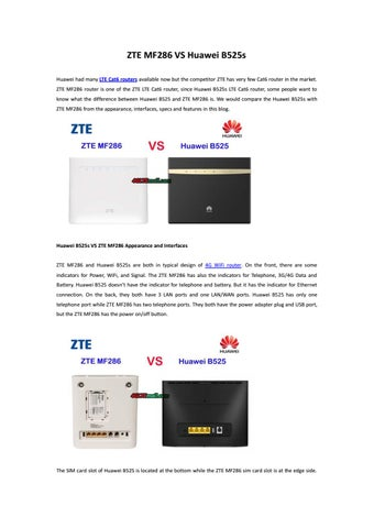 ZTE MF286 VS Huawei B525s by Lte Mall - issuu