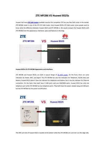 ZTE MF286 VS Huawei B525s by Lte Mall - issuu