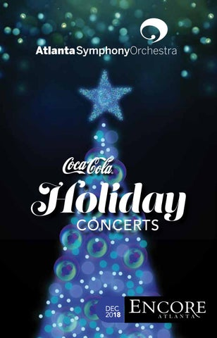 Atlanta Symphony Orchestra Encore December 2018 By Encore Atlanta