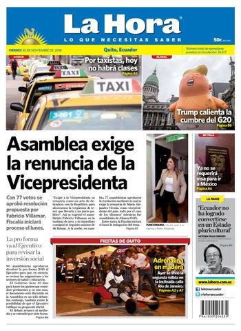 c798a5e467990 Quito 30 de noviembre de 2018 by Diario La Hora Ecuador - issuu