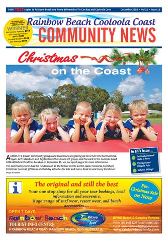 fdaf76711d90c Rainbow Beach Community News December 2018 by Coastal Publishing ...