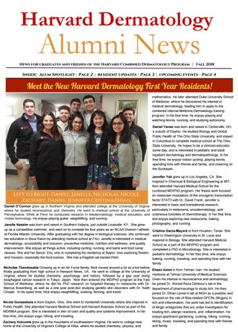 Harvard Dermatology Fall 2018 Alumni Newsletter by Girish
