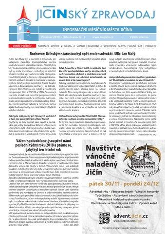 INFORMAČNÍ MĚSÍČNÍK MĚSTA JIČÍNA Prosinec 2018   číslo dvanácté uvnitř  vydání   7e604c3de5