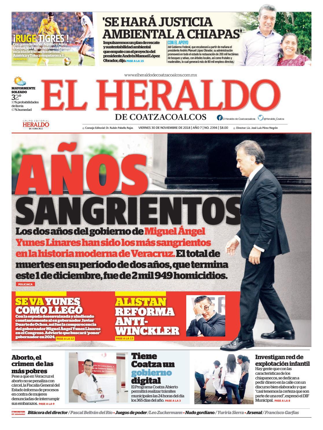 El Heraldo De 30 Noviembre Coatzacoalcos 2018 3ulJ1c5TKF