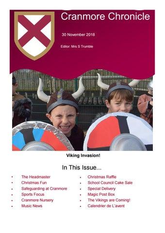 Vikings Calendrier.Chronicle 30 November 2018 By Cranmore School Issuu