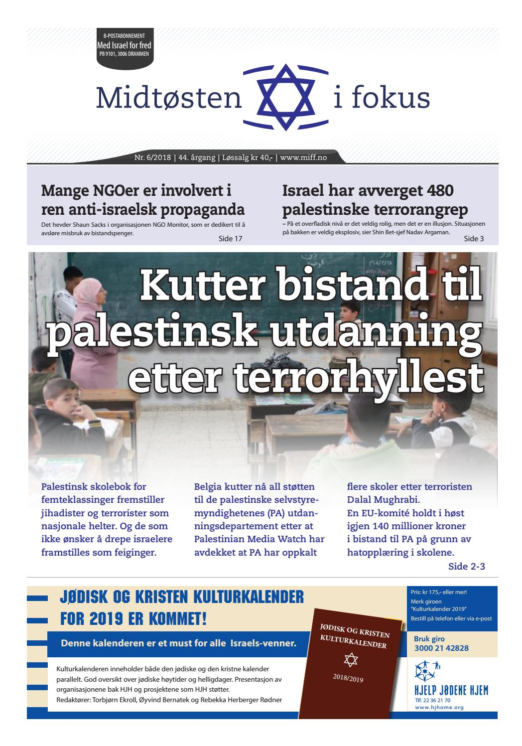 0269f025 2018-06 Midtøsten i fokus by Med Israel for fred (MIFF) - issuu