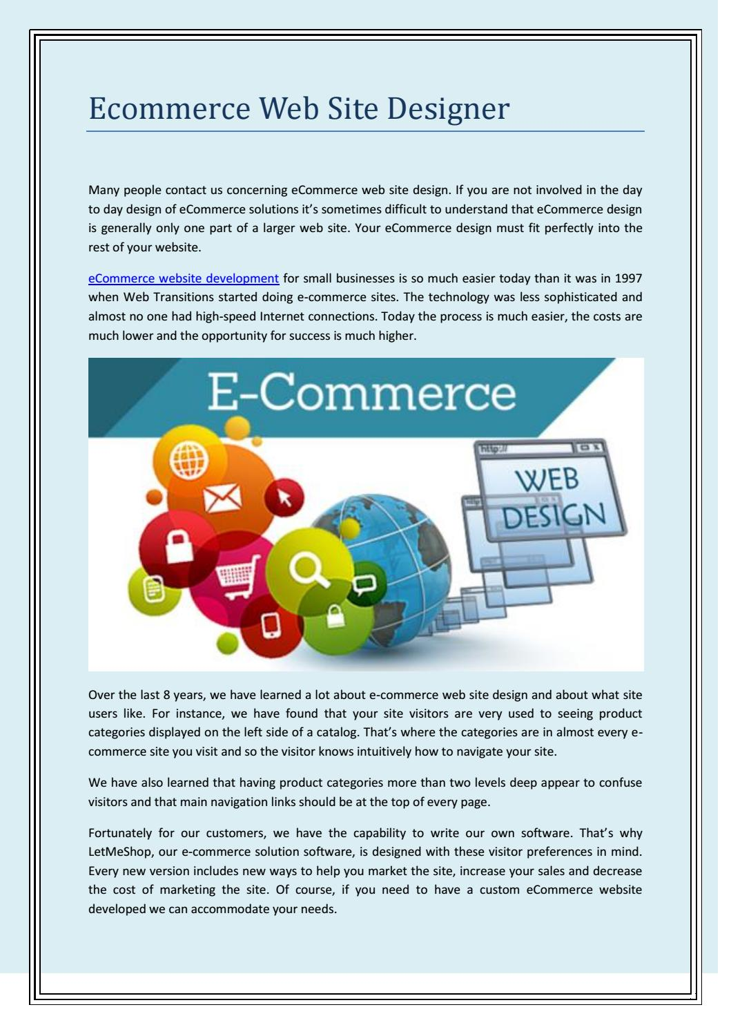 Ecommerce Web Site Designer by 247labsca - issuu