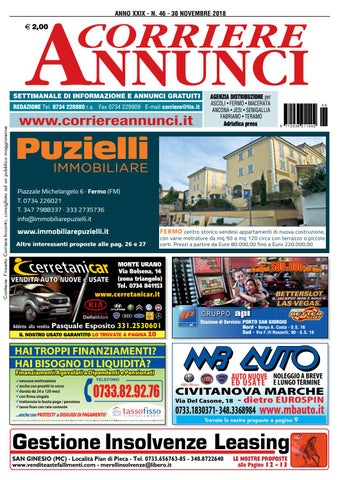 size 40 c0c63 bf6a7 Corriere 46-2018 by Corriere Annunci - issuu