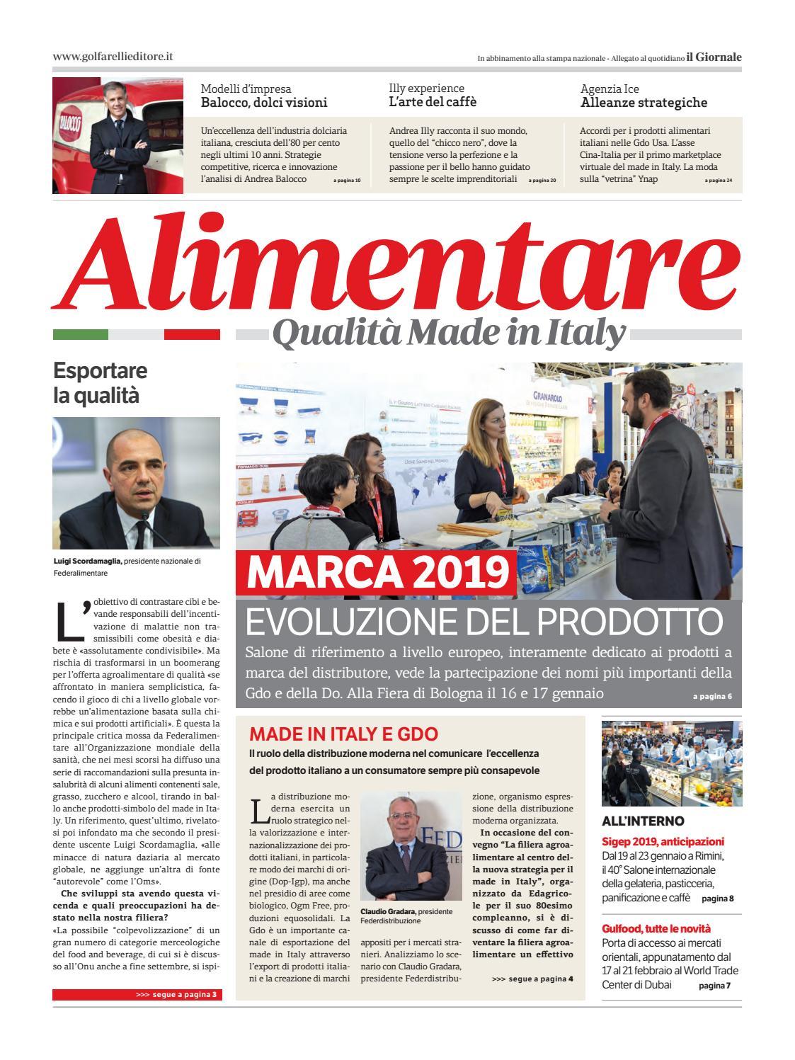 299fca0ea2 Alimentare-Nov-2018 by Golfarelli Editore International Group - issuu