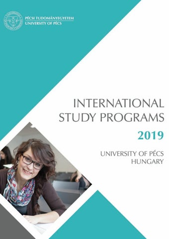 International Study Programs 2019 By University Of Pécs
