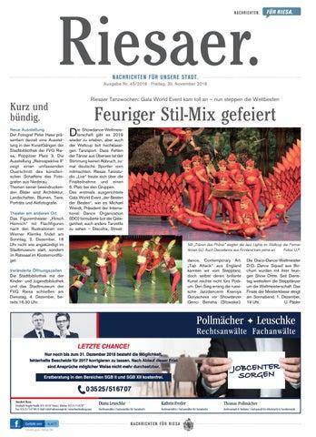 Kw 452018 Der Riesaer By Stadtverwaltung Riesa Issuu