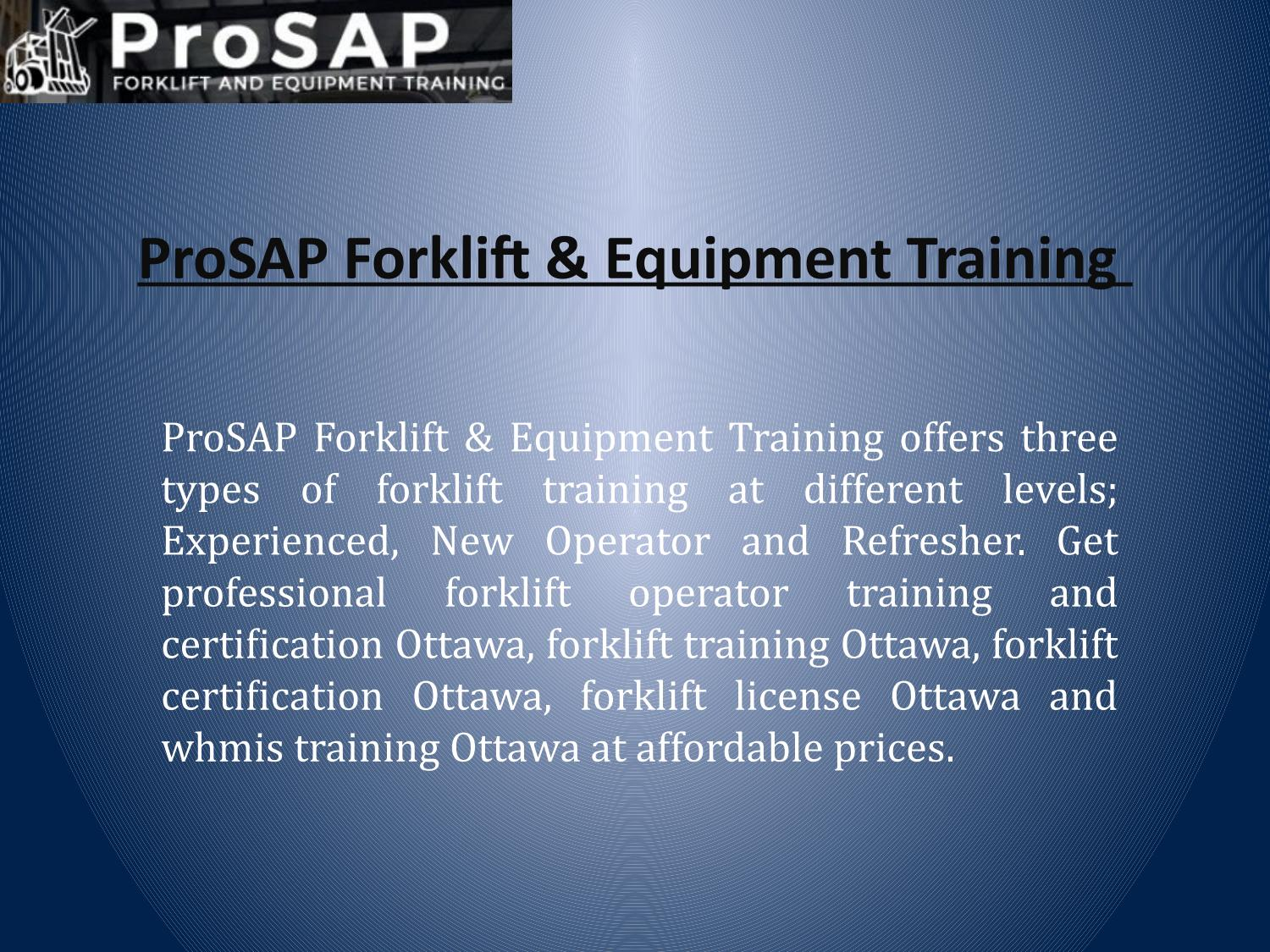 How To Search The Best Place For Forklift Training And Certification