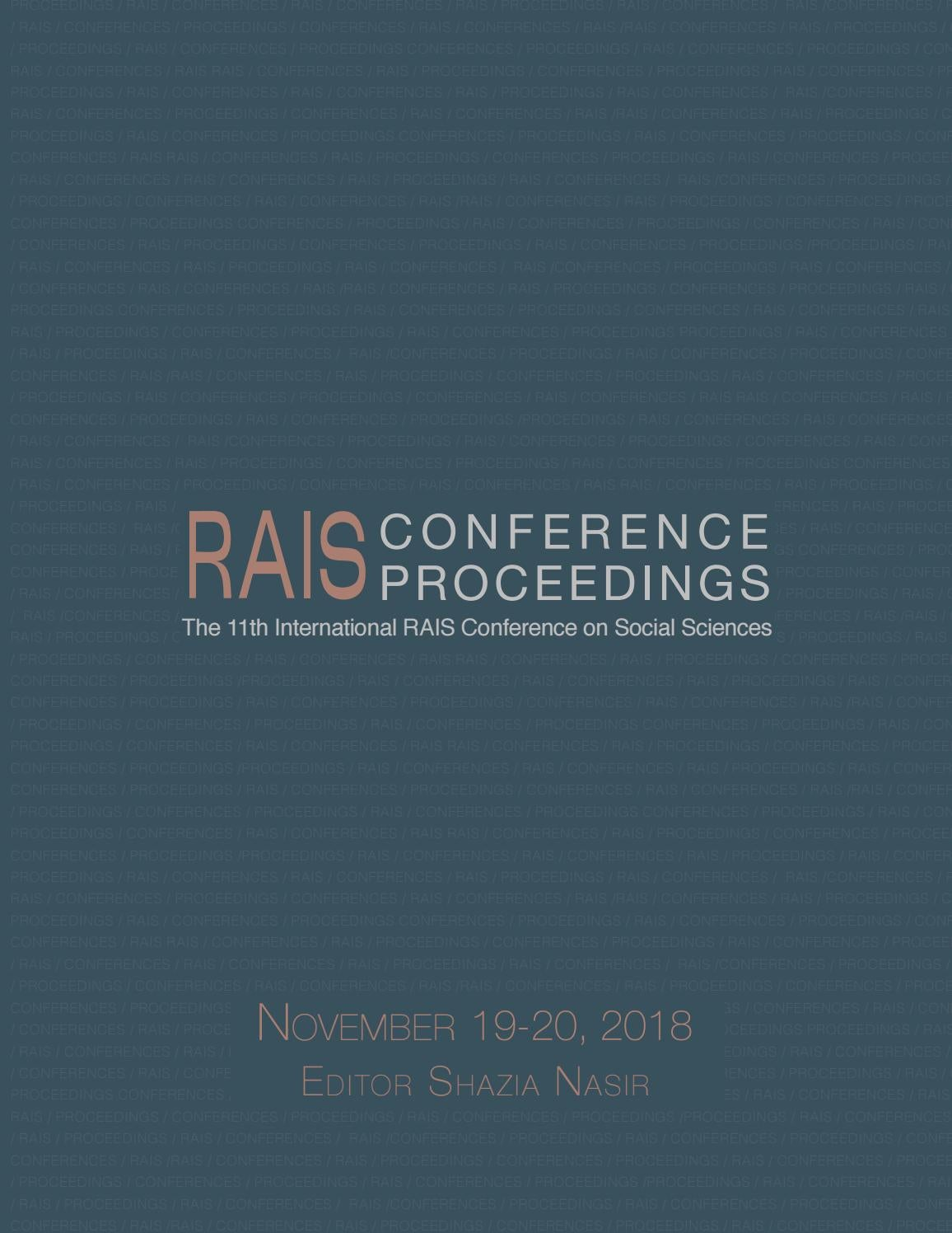 Proceedings of the 11th international rais conference on social sciences by research association for interdisciplinary studies rais issuu