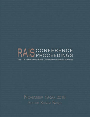 67fbdfe2db9 Proceedings of the 11th International RAIS Conference on Social ...