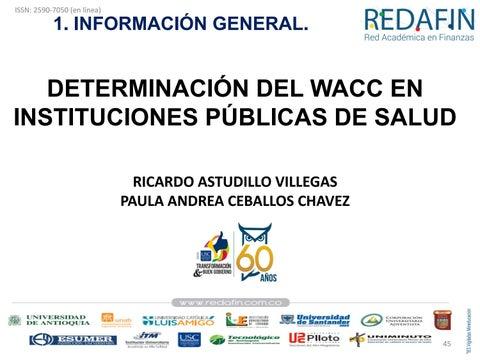 Page 45 of Determianción del WACC en Instituciones Públicas de Salud