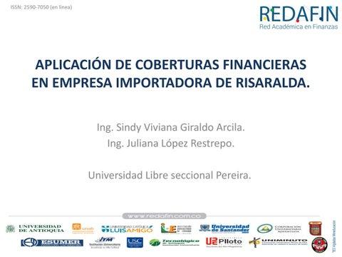 Page 63 of APLICACIÓN DE COBERTURAS FINANCIERAS PARA MITIGAR EL RIESGO CAMBIARIO EN EMPRESA IMPORTADORA DE RISARALDA