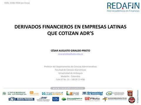 Page 78 of DERIVADOS FINANCIEROS EN EMPRESAS LATINAS QUE COTIZAN ADR'S