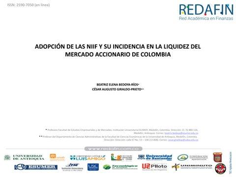Page 96 of ADOPCIÓN DE LAS NIIF Y SU INCIDENCIA EN LA LIQUIDEZ DEL MERCADO ACCIONARIO DE COLOMBIA