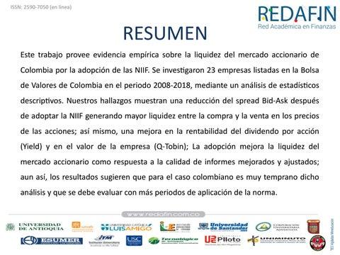 Page 97 of ADOPCIÓN DE LAS NIIF Y SU INCIDENCIA EN LA LIQUIDEZ DEL MERCADO ACCIONARIO DE COLOMBIA