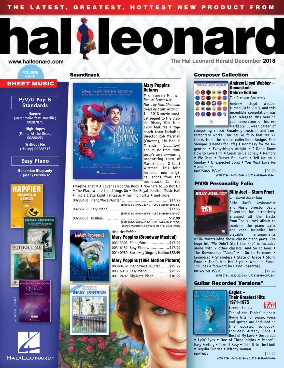 December 2018 Hl Herald By Hal Leonard Issuu