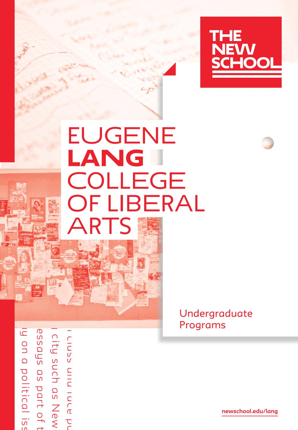 2018 Eugene Lang College of Liberal Arts Viewbook by The New