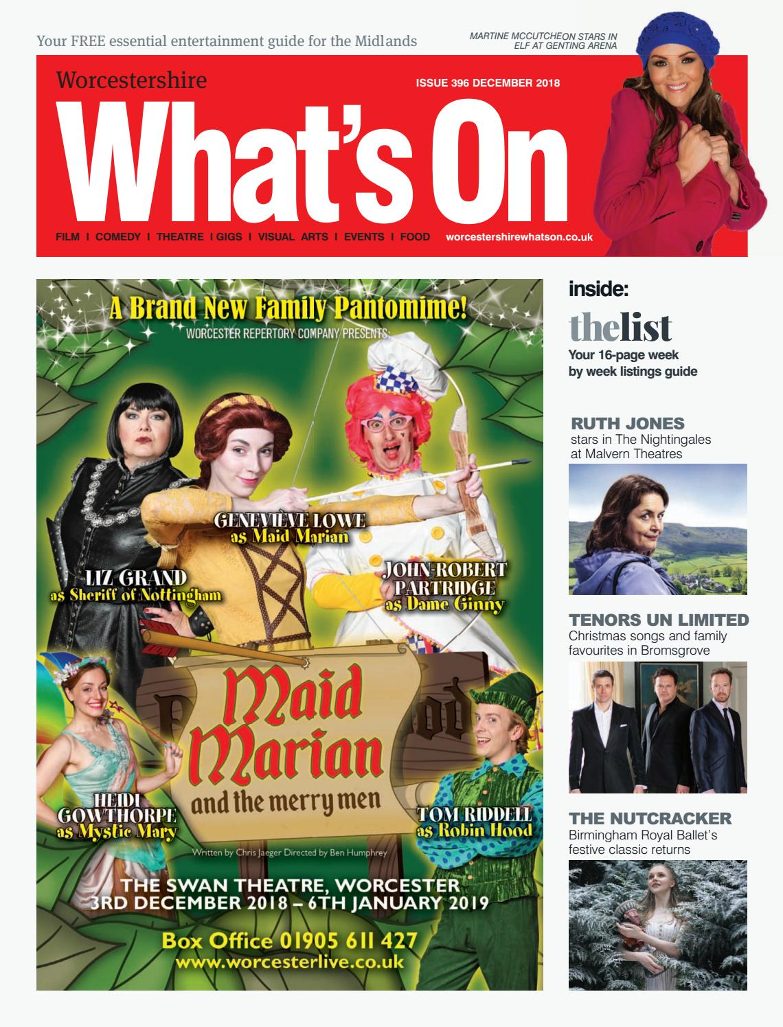 Worcestershire What's On December 2018 by What's On Magazine