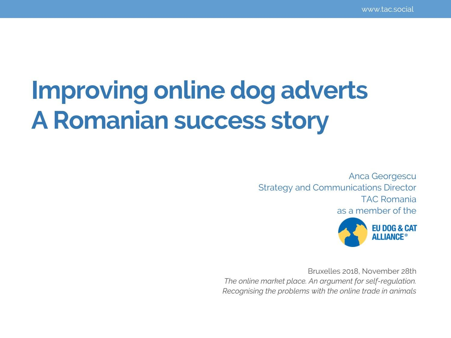 Improving online dog adverts, a RO success story OLX by TAC