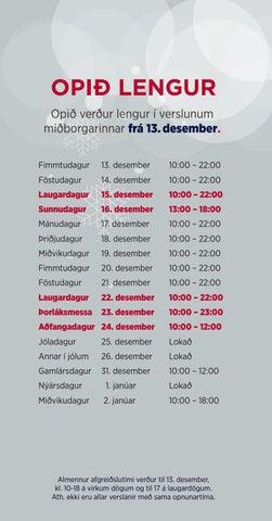 Page 3 of Opið lengur frá 13. desember