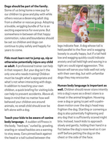 Page 7 of Tips for Child-Dog Safety