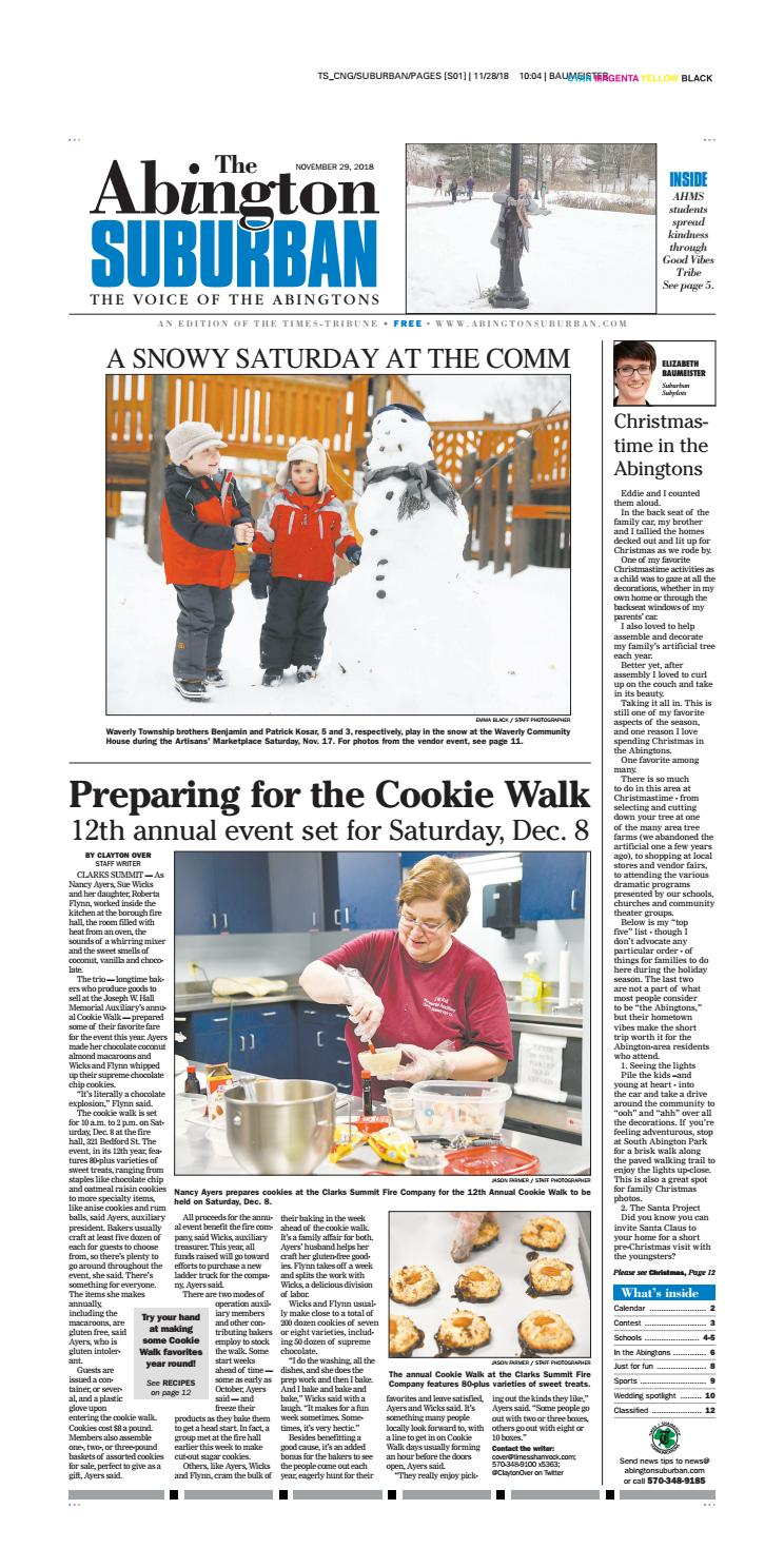 The Abington Suburban 11 29 18 By Cng Newspaper Group Issuu
