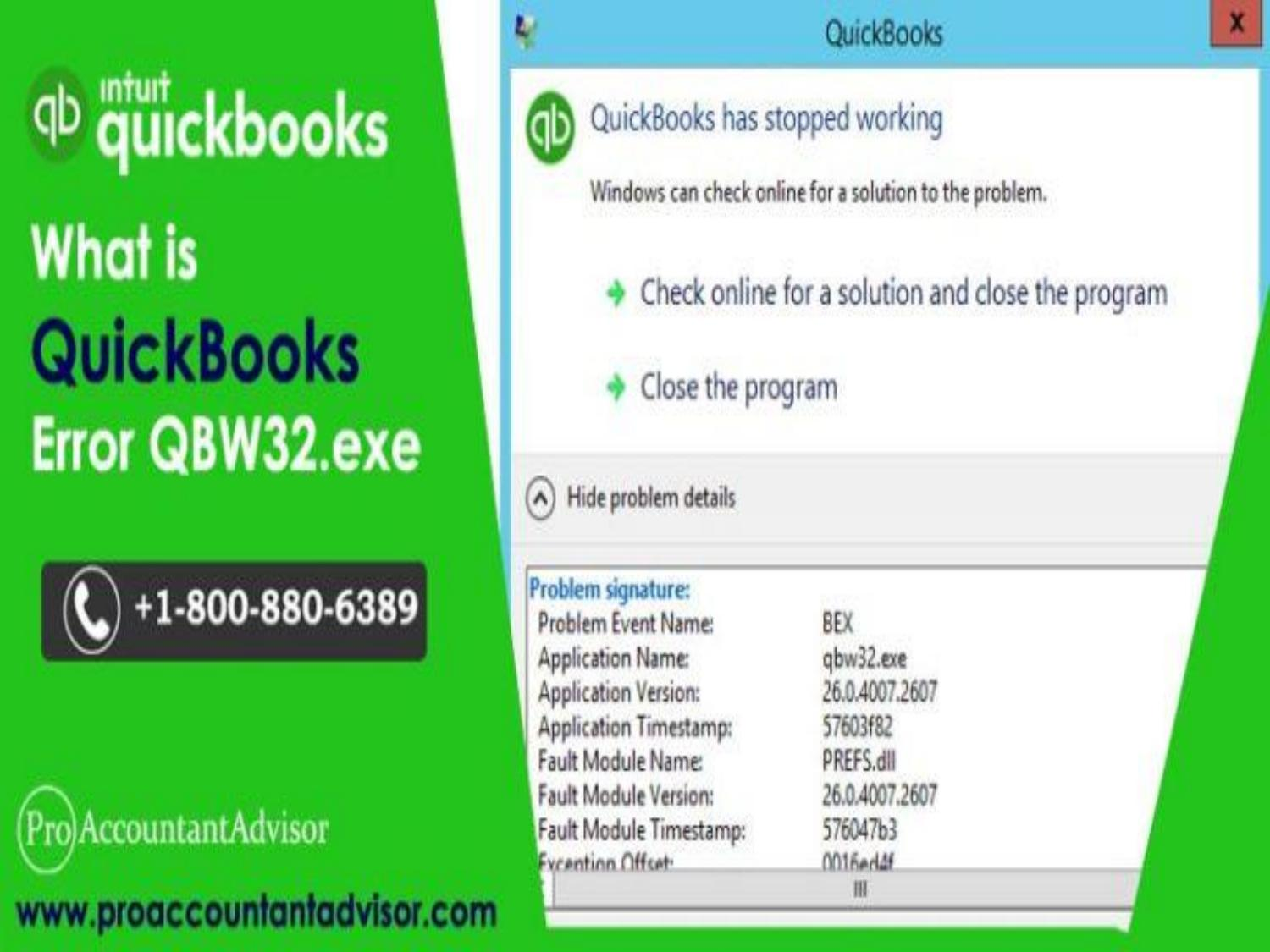 Steps to Troubleshoot QuickBooks Error QBW32.exe by anajuliausany