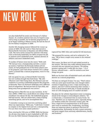 Page 29 of Wells Takes on New Role
